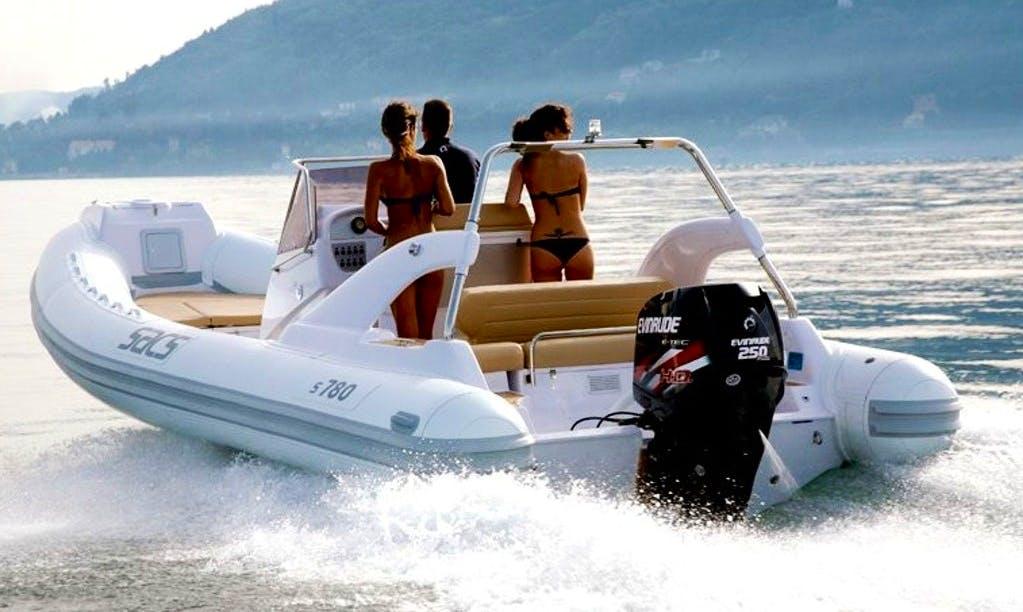 Rent 26' SACS Rigid Inflatable Boat in Marciana Marina, Italy