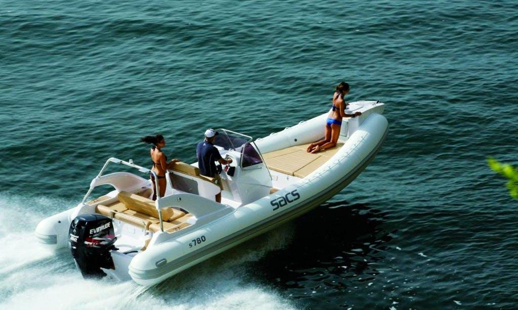 Rent 25' SACS Rigid Inflatable Boat in Marciana Marina, Italy