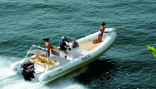 Rent 25' Sacs Rigid Inflatable Boat In Marciana Marina, Italy