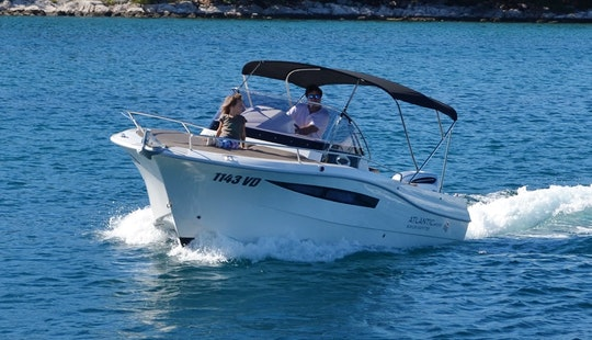 Rent 24' Atlantic 730 Sun Cruiser Motor Yacht In Tribunj, Croatia