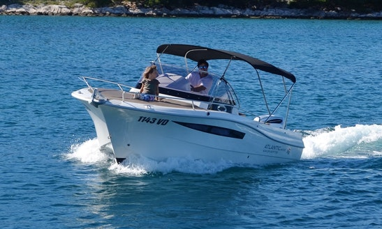 Rent 24' Atlantic 730 Sun Cruiser Motor Yacht In Tribunj, Croatia