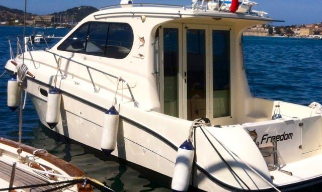 Enjoy Fishing in Marciana Marina, Italy on 30' Intermare Cuddy Cabin