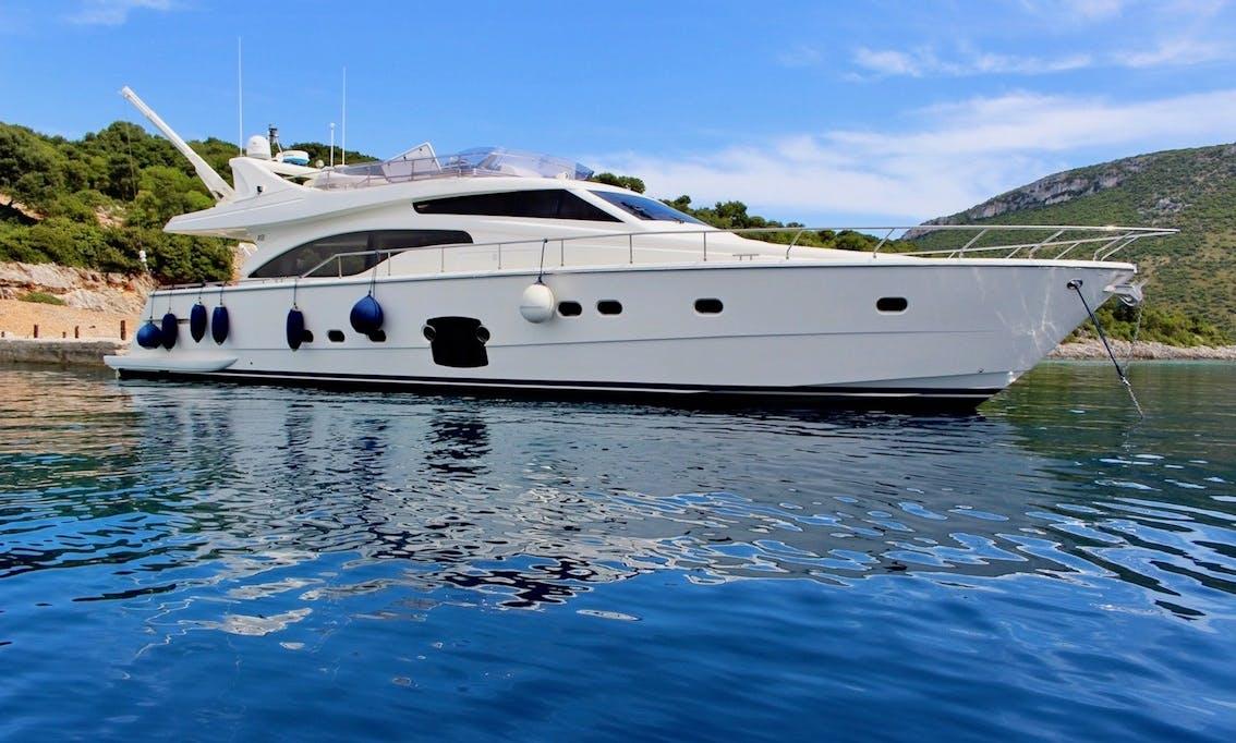 Enjoy a Week in Pula, Croatia on Ferretti 681 Power Mega Yacht