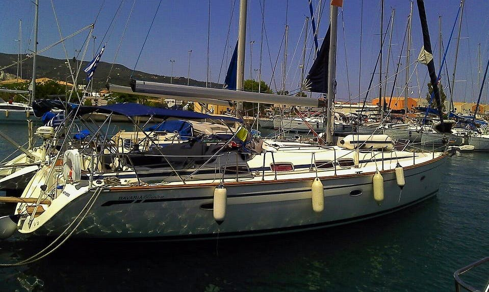 Rent 46' Bavaria Sailboat and hit the coast of Lefkada, Greece in style