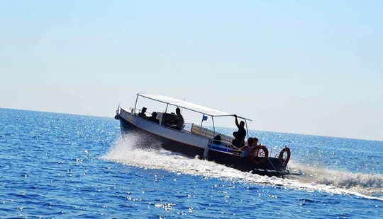 Bimini Covered Boat For Charter In Agios Nikolaos, Greece Up To 19 Guests