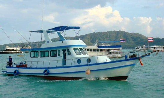 Charter Thai Fishing Cruiser P2 In T. Chalong, Phuket, Thailand.