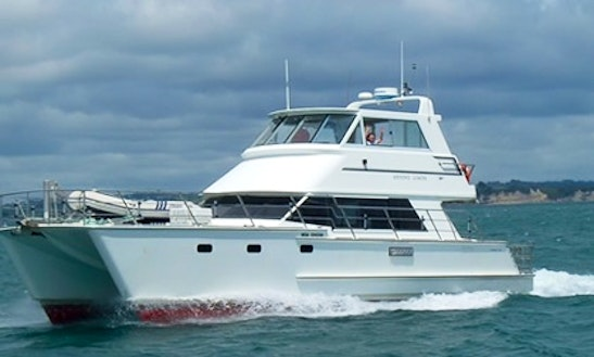 Fishing In Style On An Upmarket Large Volume Power Catamaran