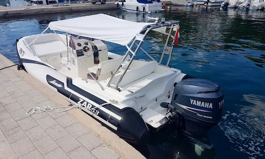 Charter 18' Zar 53 Rigid Inflatable Boat In Tisno, Croatia