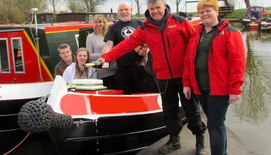 Platinum Fox 55' Canal Boat In March, United Kingdom