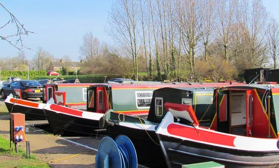 Enjoy This Silver Fox 62' Canal Boat In March, United Kingdom