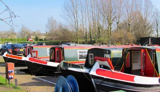Enjoy This Silver Fox 62' Canal Boat In March, United Kingdom