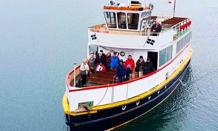 Charter MV Princessa Passenger Boat on Helford River in Falmouth, England