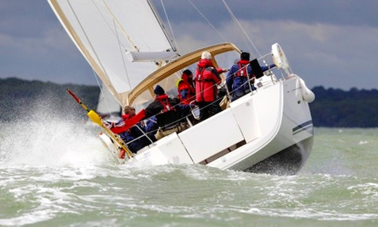 Fully Equipped 12 Person Dufour 450 Sailboat For Charter In Gosport, England