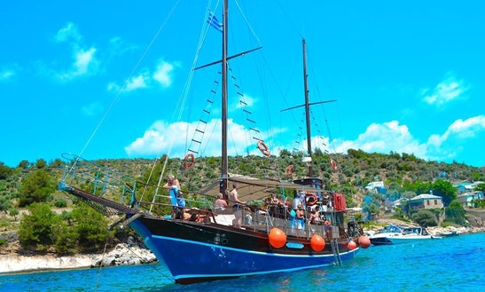 Charter 62' Agios Sostis Ii Gulet In Limenaria, Greece