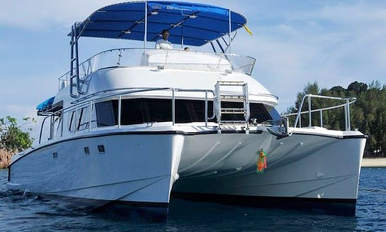 Day Tours On A Custom 50' Power Catamaran From Phuket, Thailand