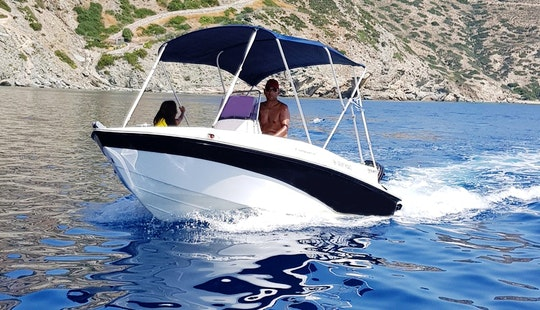 Rent Compass 150cc Deck Boat In Agia Pelagia, Greece