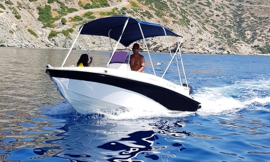 Rent Compass 150cc Deck Boat In Agia Pelagia, Greece