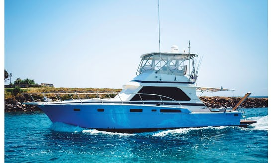 Charter Bertram 47ft Flybridge Motor Yacht At Ormos Panagias, Chalkidiki, Greece
