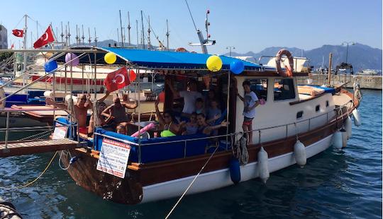 Family Boat Charter On A Classic Motor Yacht In Muğla, Turkey
