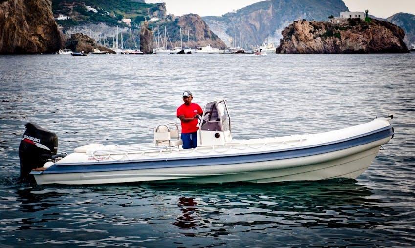 10 person Gommonautica G65C Rigid Inflatable Boat Rental in Reggio Calabria, Italy