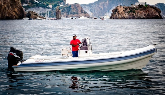 10 Person Gommonautica G65c Rigid Inflatable Boat Rental In Reggio Calabria, Italy
