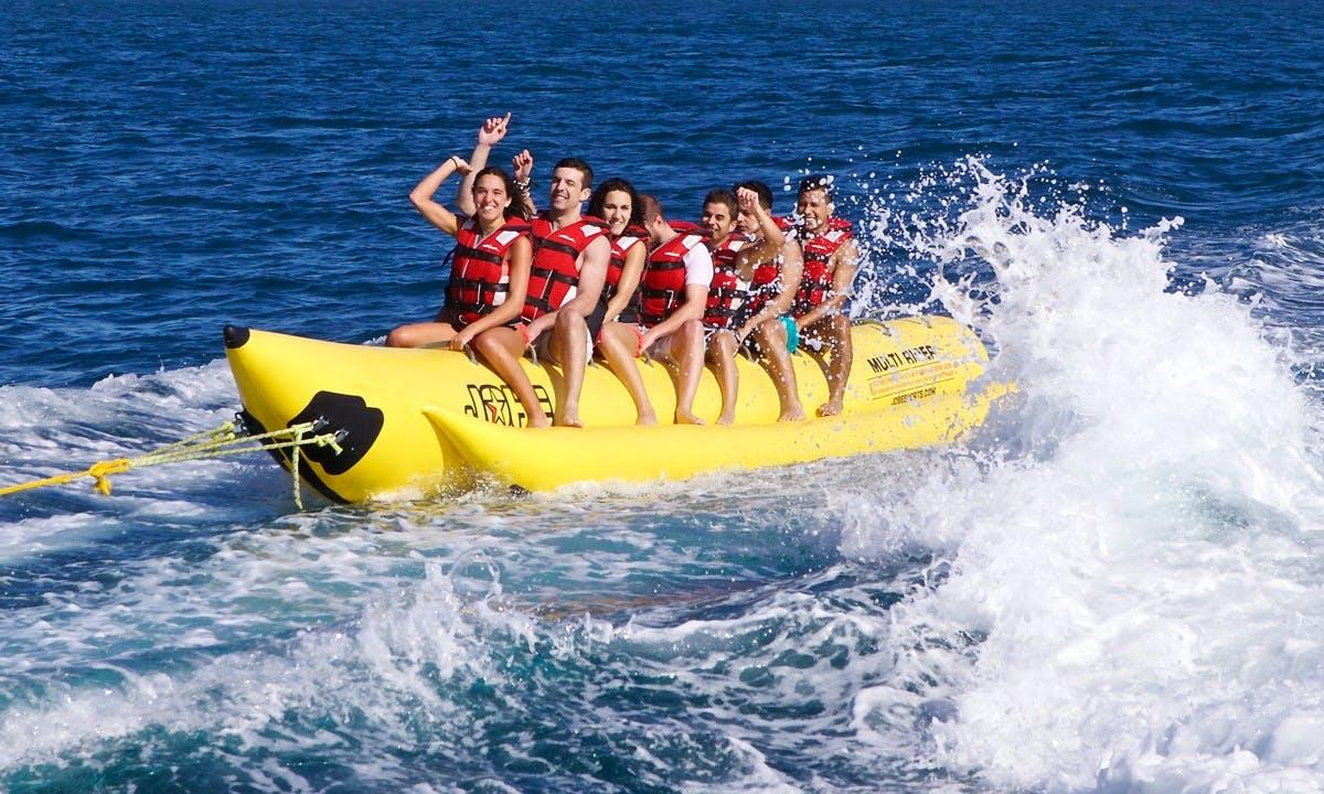 Enjoy Banana Boat in Aydın, Turkey