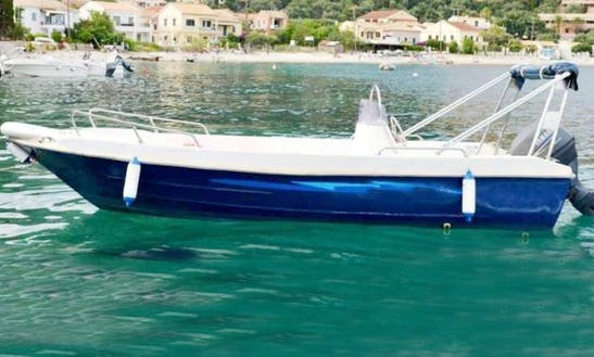 25hp Center Console Boat Hire In Kerkira