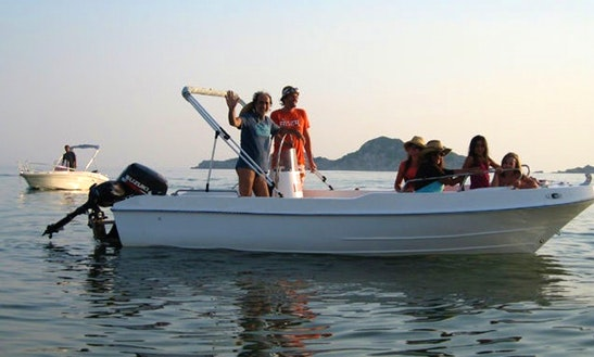 Hire 18' Powerboat 'sally' In Kerkira