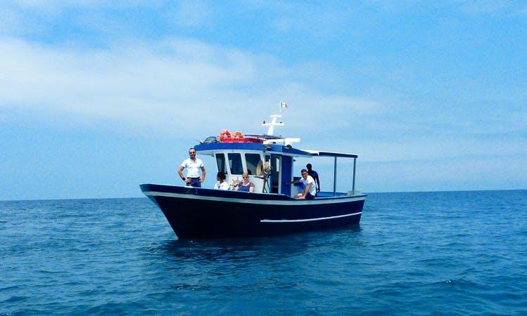 Fishing Charter On 36' Trawler In Vibo, Italy