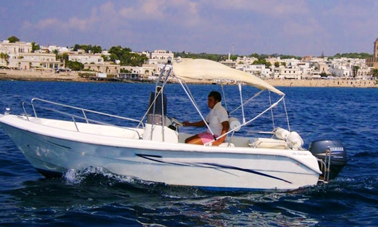 Rent 17' Simpaty 5.1 Center Console In Santa Maria Di Leuca,