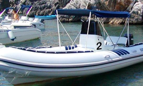Charter A 20' Rib In Castro Marina, Italy
