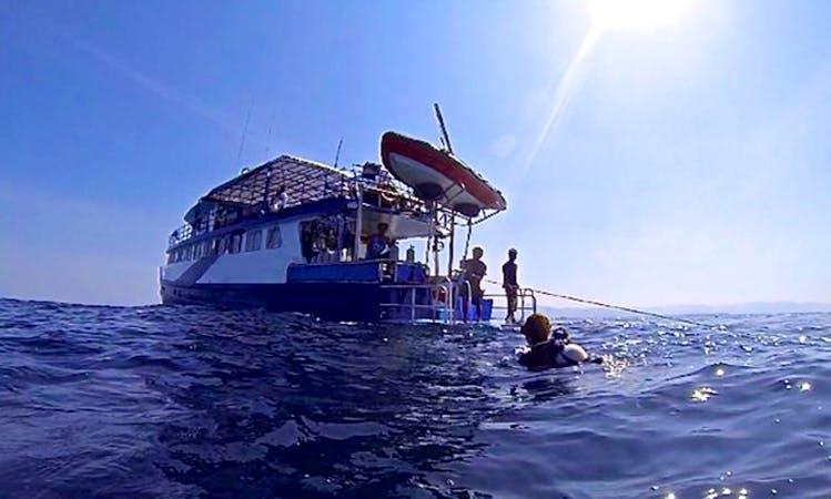 Mulitple day Motor Yacht SCUBA ADVENTURE Charter in Tambon Khuekkhak