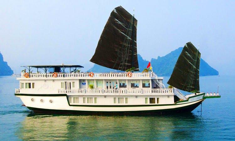 Luxury White Dolphin Cruise (Junk Boat) in  Hanoi - Vietnam