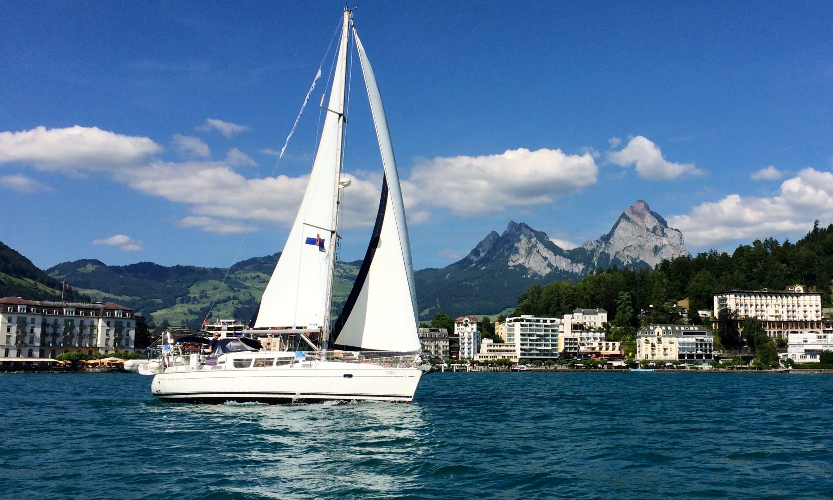 """Skippered Charter on 40ft """"Louloudi"""" Jeanneau Sun Odyssey DS in Brunnen, Switzerland"""