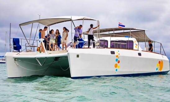 Charter Island Biz Power Catamaran In Na Jomtien, Thailand