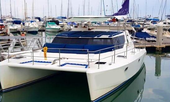Charter Shaman Power Catamaran In Na Jomtien, Thailand