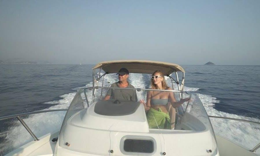 A Cuddy Cabin Captained Charter in Dubrovnik, Croatia