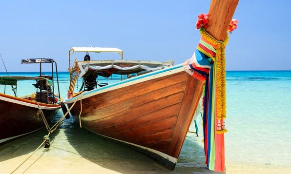 Charter an 8 Person Longtail Boat in Chang Wat, Thailand for Exploring Maikao and Jame Bond Island