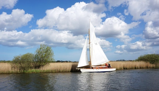 Charter A 4 Person Traditional Wooden Sailboat In England, United Kingdom
