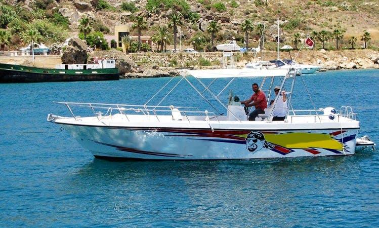 Enjoy Fishing in Ix-Xewkija, Malta on 30' Jake Center Console
