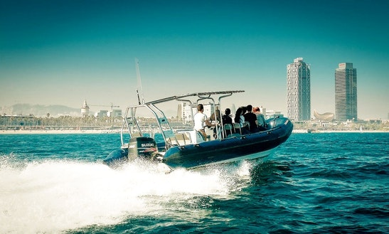 Charter A Rigid Inflatable Boat In Barcelona, Spain