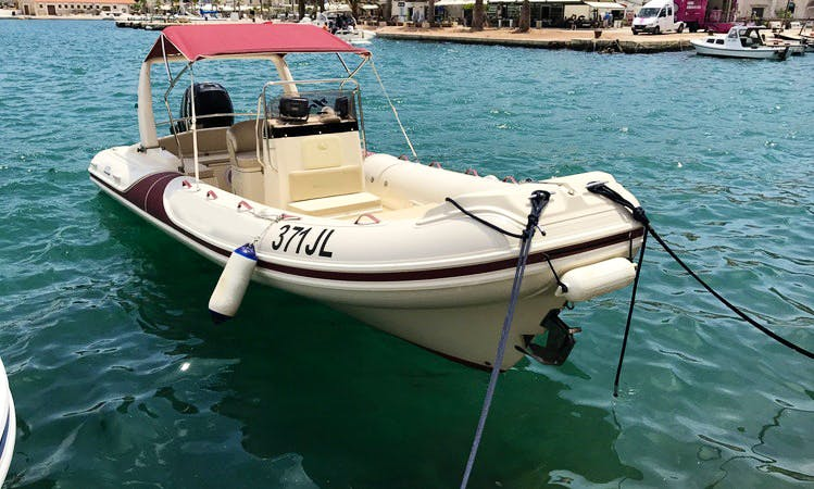 Rent Mar-co 23 Inflatable Boat with 250 Mercury Outboard in Jelsa, Hvar Island