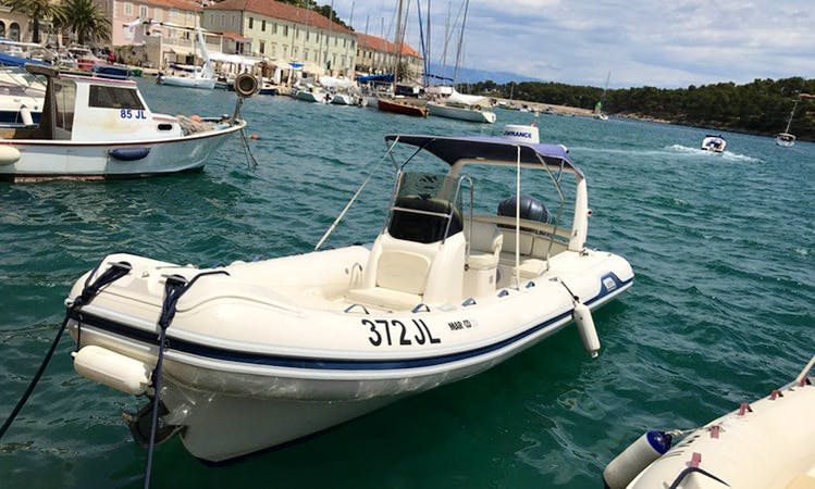 Rent a Mar-co 23 RIB for 12 Person in Jelsa, Hvar Island
