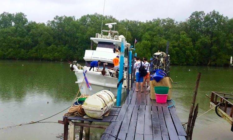 Enjoy Fishing in Tambon Bang Pla Soi, Thailand on Motor Yacht