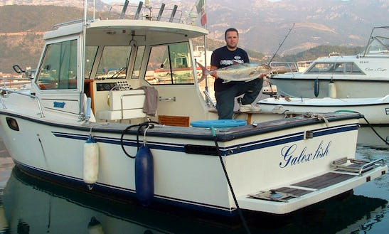 Deep Sea Fishing Charter On Cuddy Cabin In Sveti Stefan, Montenegro