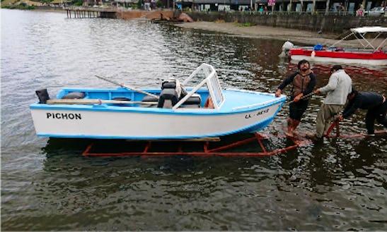 Enjoy Fishing In Nueva Branau, Chile On 16' Piegon Dinghy