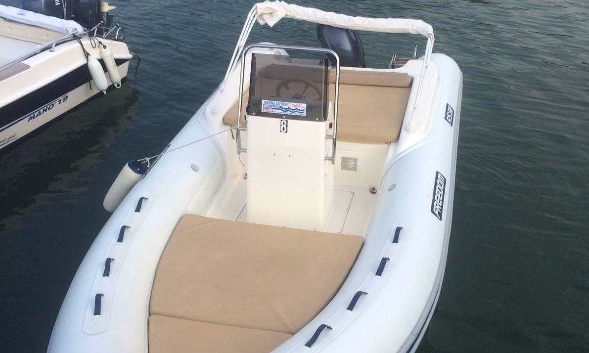 Rent a 19' Rigid Inflatable Boat In Cefalù, Italy