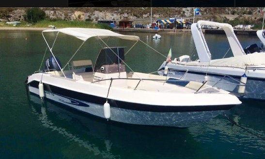 Full Day Center Console Boat Rental In Cefalù, Italy