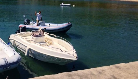 Charter A 7 Person Center Console Boat In Cefalù, Italy