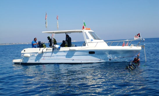 Diving Boat Rental In Favignana